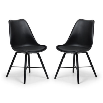 An Image of Kari Dining Chair In Pair With Black Seat And Black Legs