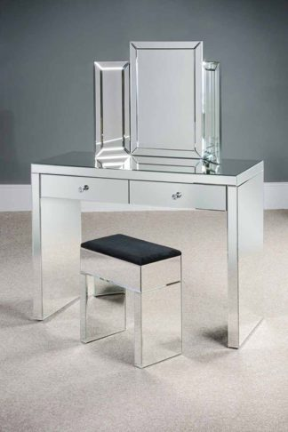 An Image of APHRODITE Venetian Mirrored Dressing Table with 2 Drawers