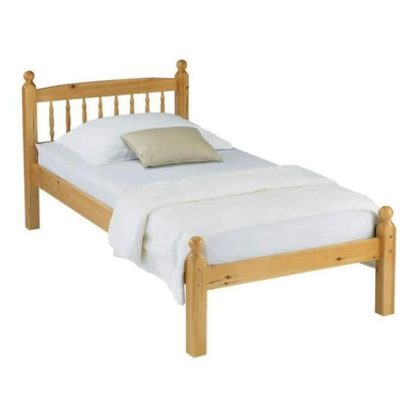 An Image of Pamela Wooden Single Bed in Pine
