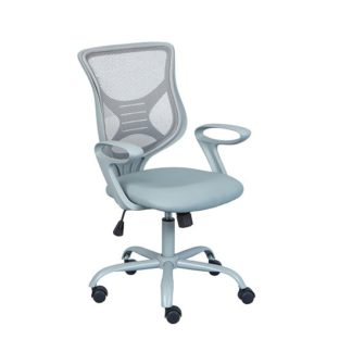 An Image of Coltene Home Office Chair In Grey PU And Mesh With Castors