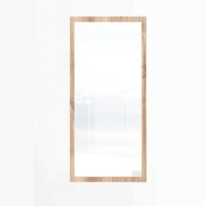 An Image of Mantova Wall Mirror In Planked Oak Effect Frame