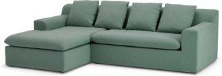 An Image of Benson Left Hand Facing Chaise End Sofa, Clover Green