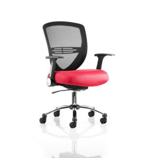 An Image of Avram Home Office Chair In Cherry With Castors