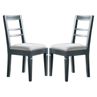An Image of Bronte Storm Dining Chairs In Pair