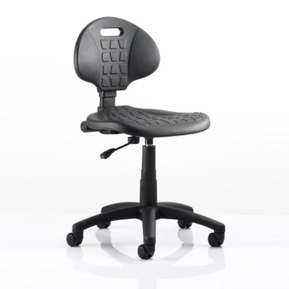 An Image of Winston Home Office Operator Chair In Black With Castors