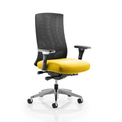 An Image of Scarlet Home Office Chair In Yellow With Castors