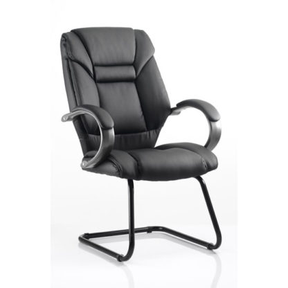 An Image of Galloway Leather Cantilever Office Chair
