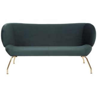 An Image of Giausar 2 Seater Sofa In Green