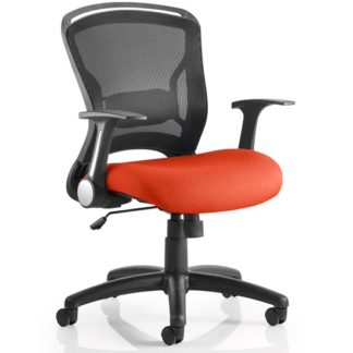 An Image of Mendes Contemporary Office Chair In Pimento With Castors