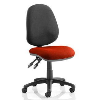 An Image of Luna II Black Back Office Chair In Tabasco Red