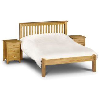 An Image of Barcelona Wooden Low Foot End Single Bed In Pine
