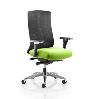 An Image of Scarlet Home Office Chair In Green With Castors