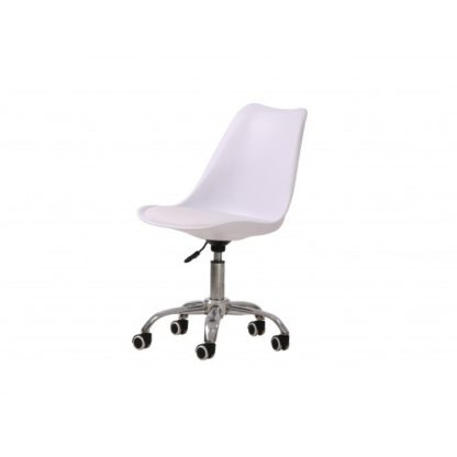 An Image of Larsson Swivel Home Office Chair In White