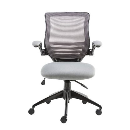 An Image of Clay Bracket Shaped Office Chair In Grey