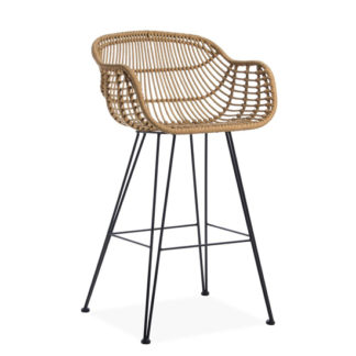 An Image of Rafferty Carver Wooden Bar Stool