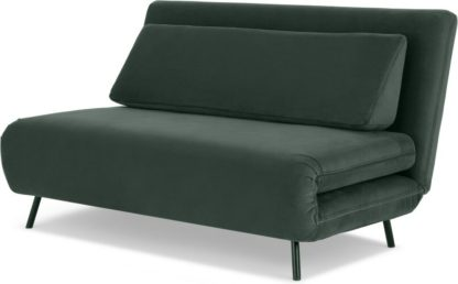 An Image of Kahlo Large Double Sofa Bed, Autumn Green Velvet