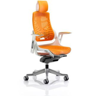 An Image of Zeta Executive Office Chair In Orange Elastomer