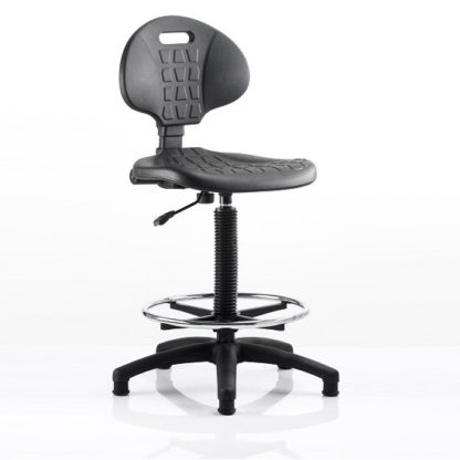 An Image of Winston Home Office Operator Chair In Black With Foot Rest