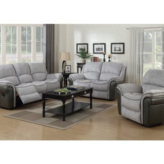 An Image of Lerna Fusion 3 Seater Sofa And 2 Seater Sofa Suite In Grey