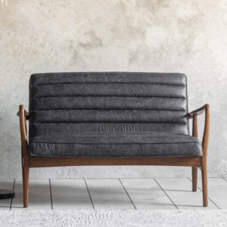 An Image of Datsun 2 Seater Sofa In Antique Ebony