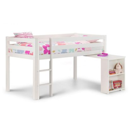 An Image of Wendy Midsleeper Bunk Bed In Surf White