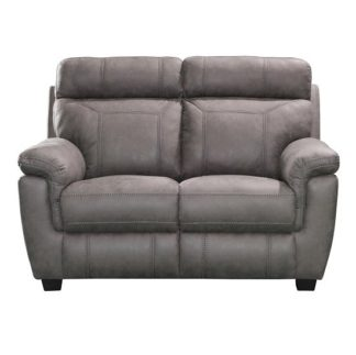 An Image of Colyton Fabric Two Seater Sofa In Grey Finish