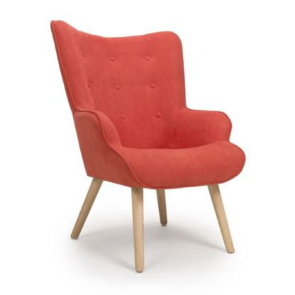 An Image of Corsair Chenille Effect Accent Chair In Brick Orange