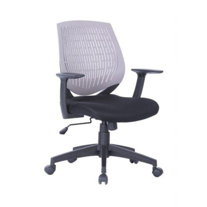 An Image of Lemaire Office Chair In Black With Grey Plastic Backrest
