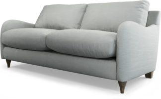 An Image of Custom MADE Sofia 2 Seater Sofa, Athena Dove Grey with Light Wood Legs