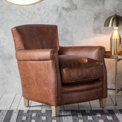 An Image of Mr. Paddington Chair In Vintage Brown Leather