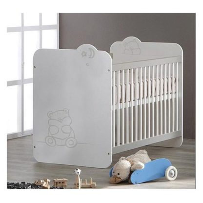 An Image of Prague Wooden Childrens Bed In White With Bars