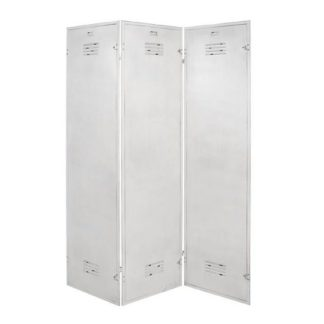 An Image of Marissa Metal Room Divider In Antique White
