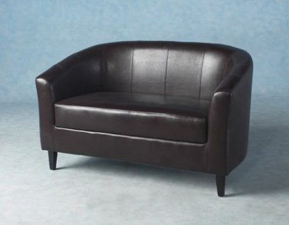 An Image of Tempo Twin Tub Chair In Expresso Brown