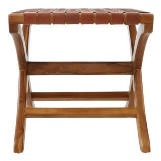 An Image of Formosa Teak Wood Stool In Brown