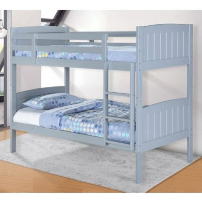 An Image of Hayes Wooden Bunk Bed In Grey
