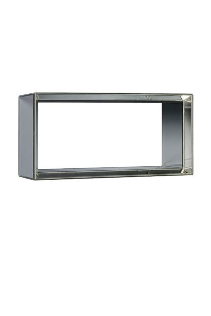 An Image of Mirrored Rectangular Wall Shelf -Uno