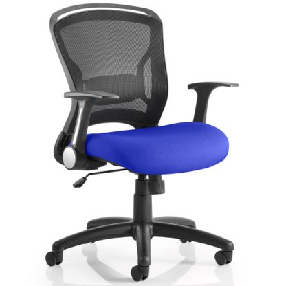 An Image of Mendes Contemporary Office Chair In Serene With Castors