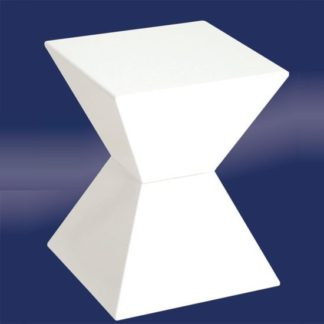 An Image of Edge Funky End Table In White High Gloss Lacquered