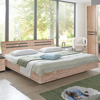 An Image of Susan Wooden King Size Bed In Silver Fir