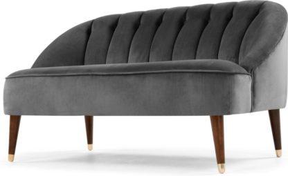 An Image of Margot 2 Seater Sofa, Pewter Grey Velvet