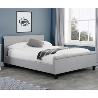 An Image of Stratus Fabric Small Double Bed In Grey