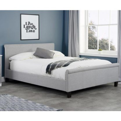 An Image of Stratus Fabric Double Bed In Grey