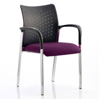 An Image of Academy Office Visitor Chair In Tansy Purple With Arms