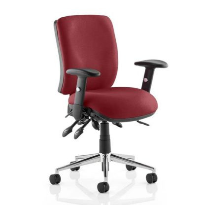 An Image of Chiro Medium Back Office Chair In Ginseng Chilli With Arms