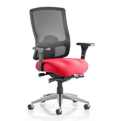 An Image of Regent Office Chair With Bergamot Cherry Seat And Arms