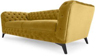 An Image of Sloan 3 Seater Sofa, Vintage Gold Velvet