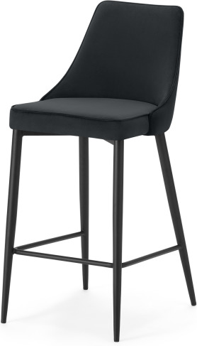 An Image of Julietta Barstool, Lead Grey Velvet