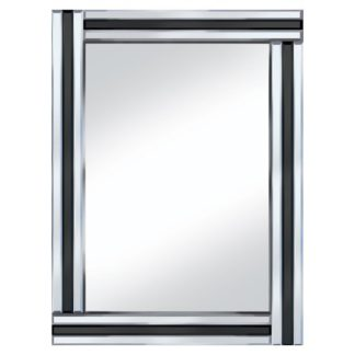 An Image of Black Stripe 60x80 Rectangle Mirror