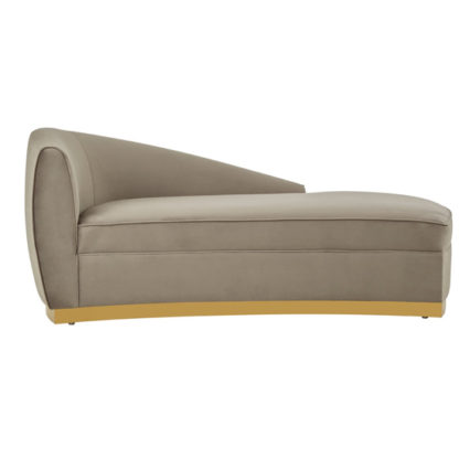 An Image of Batoz Left Arm Longue Chaise Chair In Grey