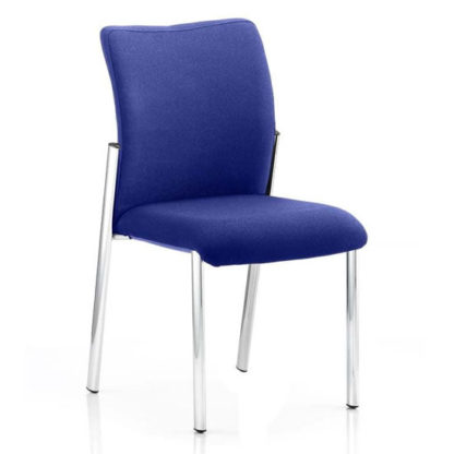 An Image of Academy Fabric Back Visitor Chair In Stevia Blue No Arms